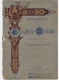 Libretto Cavalleria Rusticana de Mascagni
