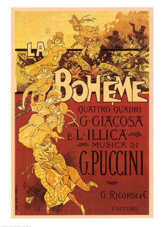 Puccini La Boheme Posters