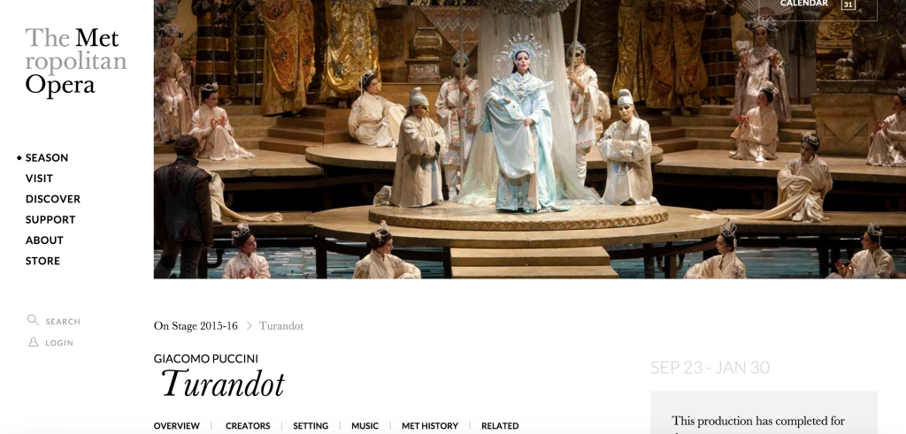 GIACOMO PUCCINI >> Turandot